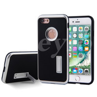 Wholesale Note Stand Cover - MOTOMO PC+TPU Armor Case Anti-Skid Anti-Knock Carbon Fiber Stand Cover For iPhone 5 6 7 Plus Samsung S7 Edge Note 5 J5 J7