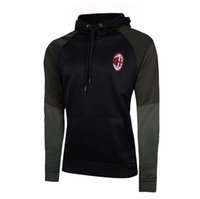 Wholesale Product Sleeve Printing - 2016-17AC Milan with hat sweater black trend explosion products, the quality of Thailand