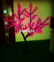 ingrosso albero fiore viola-Outdoor 1.5m / 5ft Altezza LED Cherry Blossom Tree Light Home Holiday Decorazioni di Natale Rosso / Blu / Verde / Bianco / Giallo / Rosa / Viola per Opzione