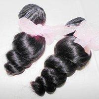 estilo de pelo de onda peruana al por mayor-Estilo bajo Street Girl Hot Loose Wave Weave Pelo humano peruano 3 paquetes Textura suave