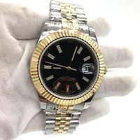 Wholesale Jubilee Stainless - Luxury Brand Mens Watch Automatic Movement Stainless Steel Two Tone Jubilee Strap Sapphire Glass Men Watches Wristwatch