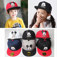 Wholesale Kid Chapeau Hat - Kids Cartoon Cute Mickey Baseball Cap Mouse Snapback Hats Brand Hip-hop Hat Bone Aba Reta Gorras Kids Chapeau Casquette