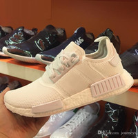 Wholesale Cheap Nude Flats - 2017 Wholesale Discount Cheap NMD Runner Primeknit Sales White Red Blue NMD Runner Sports Shoes Men Woman NMD Running Boost with Box