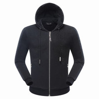 Wholesale Black Diamond Jacket - 2017 Autumn Hot Sell Men's Jacket Length Sleeve Hoodies Sweatshirts Skull Print QP Tiger Diamond Hoody Hooded Mens Zipper Outwear 7047
