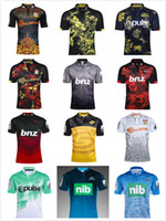 Wholesale New Arrival Hot Sale - Top quality hot sales!2017 new arrival Crusaders Blues rugby jerseys new Zealand Chiefs Highlanders Hurricanes rugby shirts Size S-3XL