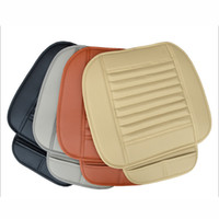 пуповые подушки оптовых-Высокое качество Универсальный автомобильный чехол мягкий PU кожаный коврик для авто переднее сиденье защитная накладка