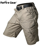 Wholesale Stop Flies - Summer Militar Waterproof Tactical Cargo Shorts Men Teflon Camouflage Army Military Short Male Pockets Rip-stop Casual Shorts