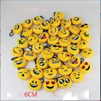 Wholesale Doll 38 - 38 Styles emoji plush pendant Key Chains Emoji Smiley Emotion Yellow QQ Expression Stuffed Plush doll toy for Mobile bag pendant