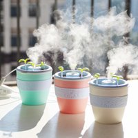 Wholesale Types Flower Pots - 2017 New Fashion Design Flower Pot Humidifier USB Potted Plant Home Mini Humidifier Essential Oil Diffuser Air Humidifier Ultrasonic