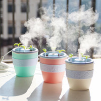 2017 Nouvelle conception de mode Humidificateur de pot de fleur USB Plante en pot Mini humidificateur domestique Diffuseur d'huile essentielle Humidificateur d'air Ultrasonique