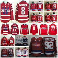 Wholesale White Hunter - Washington Capitals 77 TJ Oshie 8 Alex Ovechkin 5 Rod Langway 11 Mike Gartner 21 Dennis Maruk Dale Hunter Kuznetsov Throwback Hockey Jerseys