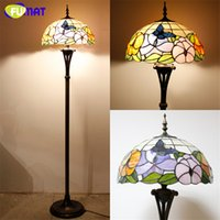 Wholesale Baroque Lamp - New Art Tiffany Floor Lamp Stained Glass Curtain Beads Baroque Vintage Stand Lamp Living Room Hotel Book Store Bar Decor Light Fixture