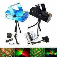 Wholesale Mini Red Blue Moving - 2016 cheaper 150MW Mini Red & Green Moving Party blue  black body Laser Stage Light laser DJ party light Twinkle + Tripod led stage lamp
