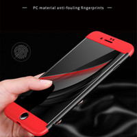 Wholesale Tpu Hard Case For Blackberry - Luxury 3 in 1 Armor 360 Degree Full Body Ultra Thin Hard PC Matte Protection Cover Case For iPhone 5 5S SE 6 6S 7 Plus Samsung S7 Edge S8
