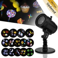 Wholesale Mini Projector Led Lamp - New Mini LED Projector Light 14 Patterns Waterproof Landscape Lighting Indoor Wall Spotlight Projection Lamp Halloween Christmas Fairy Light