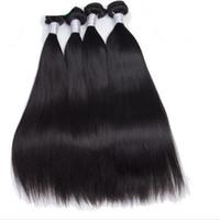 en iyi saç paketleri toptan satış-Saç demetleri 9a sınıf en kaliteli 1b ipeksi düz işlenmemiş bakire brezilyalı saç 3 adet tam kafa giyen saç atkı ücretsiz kargo