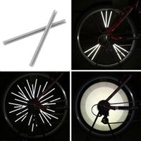 Wholesale Led Strip Bicycle - 12pcs Reflective Mount Clip Tube Warning Strip Bicycle bike Wheel Spoke Reflector mountain rear bike reflector light reflector