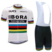 Wholesale Black White Cycling Bibs - 2017 TEAM bora cycling jersey 3D gel pad bibs shorts Ropa Ciclismo quick dry pro cycling clothing mens summer bicycle Maillot Suit