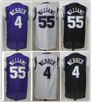 Wholesale Men Mixed Shirt - HOT Men 55 Jason Williams 4 Chirs Webber Jerseys Adult boy Shirts Stitched Jerseys top Quanlity Mix Order