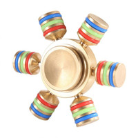 Wholesale Copper Spinners - Brass Hexagonal Fidget Spinner Metal Hexa-spinner Brass Fidget Spinner EDC Metal Copper Spinners Decompression Novelty Toy