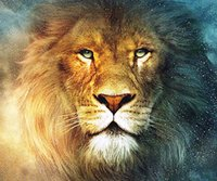 Wholesale 5D DIY Animal Abstract Lion Full of Diamond Painting Cross Stitch Kits Over drilling Home Decoration