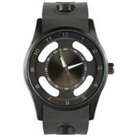pulseira relógio militar venda por atacado-Novos homens de luxo sports oco nome da marca relógios preto e prateado Relgio Relógios Pulseira Homens de quartzo Chronograph Militar relógios