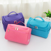 polyester bag zipper highend quality travelling toiletry bag fashion design men women wash bag large capacity cosmetic bags makeup toiletry bag po