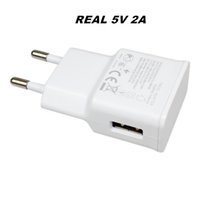 Wholesale travel plug adapters online - Real Full V A High Quality USB Wall Charger Travel Adapter For Samsung EU US Plug