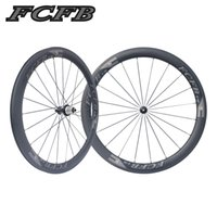 Wholesale Hubs For Road Bike - 2017 new FCFB F-50mm carbon wheels with R36 hubs for Road Bike, 25mm width 3K matt clincher wheelset