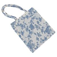 Wholesale Cotton Canvas Floral Print - Women's Cotton Daisy Floral Print Canvas Tote Shopping Bag Light Brown