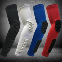 Wholesale Sports Safety Gloves - brand sports safety basketball arm pad anti-skid pad honeycomb pad elbow protection support elbow wrist sleeves compression arm sleeve
