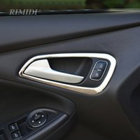 Car Stainless Door Handle Protector Sticker Inner Door Handle Cover Decoração para Ford Focus 4 MK4 2014 2015 2016 Car Styling