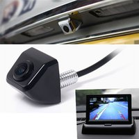 Wholesale Vision Chips - Car Rover Night Vision Car Rear View Camera 170 Degree Rear-view Back-up and Parking Camera Universal Waterproof 1 4 Color CCD Imaging Chip