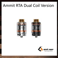 Wholesale Wholesale Decks - GeekVape Ammit RTA Dual Coil Version 3ml 6ml Tank Capacity Option 20mm Postless Build Deck Four Path Airflow from Bottom Side 100% Original
