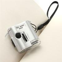 ferramentas de joalharia venda por atacado-Venda quente 60X Microscópio Iluminado Lupa Joalheiro Lupa Lupa com Ferramenta de Reparo de Relógio de Luz UV LED