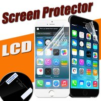 Wholesale Film Cleaning Cloth - Front Transparent Clear LCD Screen Protector Guard Film Sratch Resistant With Cleaning Cloth For iPhone X 8 7 Plus 6 6S 5S Samsung S8 Note 8