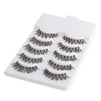 Wholesale Half Lashes - Wholesale- 5 Pairs Beauty Makeup Mini Half Corner Black False Eyelashes Natural Eye Lashes Cosmetics