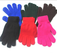 Wholesale outdoor sport Cycling Glove knited Adult Magic Gloves Five Finger Gloves Unisex Winter knitting warm Glove Touch Screen Gloves