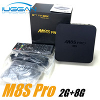 M8S pro android box KD RKMC Box Android 6.0 RK3229 4K Smart Media Boxes 2gb 8gb 4K tvbox Mini PC KD RKMC 17.2 préchargé