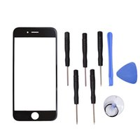 "Wholesale Repair Tool Kit For Screen - Apple iPhone 6 6S 4.7"" inch Front Outer Screen Glass Lens Replacement Parts + Repair Kit Tool open Cellular Part"