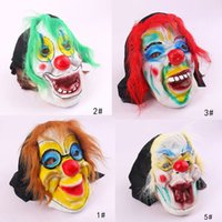 Neue Scary Clown Maske Adult Halloween Evil Killer Fancy Dress Horror Jolly Latex Haar Full Face Masken Party Kostüm Cosplay Zubehör K055