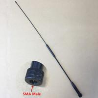 vértice walkie talkie al por mayor-Venta al por mayor honghuismart RH901S SMA MACHO UHF VHF antena de doble banda para Tonfa TFUV985, Yaesu, Vertex estándar VX3R etc walkie talkie