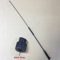 Wholesale Vhf Male Antenna - Wholesale- honghuismart RH901S SMA MALE UHF VHF Dual Band antenna for Tonfa TFUV985,Yaesu,Vertex Standard VX3R etc walkie talkie