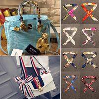 Wholesale Women Mix Handbags - New Women Scarf Printed Handbag Silk Ribbon Wraps Bandanas Bow Hair Bands Decoration 31 Style Mixed WX-C69