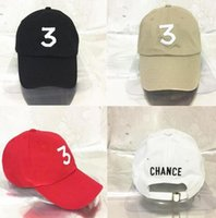 Wholesale wholesale panel hats - Wholesale- New Chance The Rapper 3 Kanye West bear Dad Hat Baseball Cap - Adjustable 6 panel Strapback BLACK hip hop gorras bone casquette