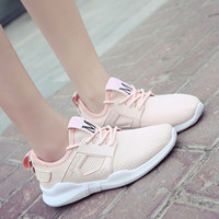 Wholesale Han edition of new fund of autumn sports shoes increased white shoe breathable leisure female harajuku joker running shoes A01