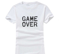 Wholesale Over Size Clothing - Game Over 2017 New Clothes Fashion Women Men Cotton O Neck Short Sleeve Print Casual T-Shirts loose Personalized unique Tees Wholesale