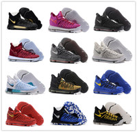 Wholesale Kevin Durant Shoes Colors - New Warriors Colors FMVP KD IX 9s Elite KD9 Men's Basketball Shoes for High quality Kevin Durant 9 IX BHM Sports Training Sneakers Size 7-12