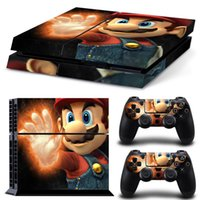 Atacado Fashion anime Vinyl Skins para Sony Playstaion 4 PS4 console +2 Controller Etiqueta protetora 10pcs / lot pode ser misturado