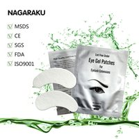 Wholesale Lash Pads - Wholesale- NAGARAKU 100pairs Set New Patches Eyelash Under Eye Pads Lash Eyelash Extension Paper Patches Eye Tips Sticker Make Up Tools